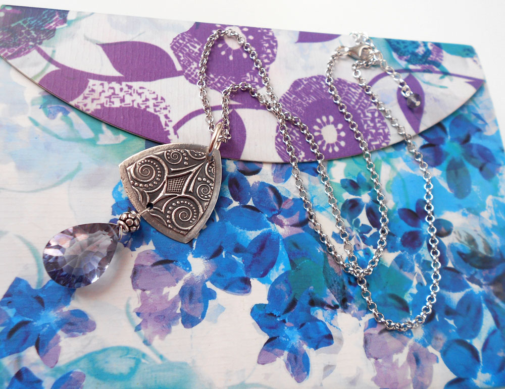Silver Mystic Blue Cala Necklace