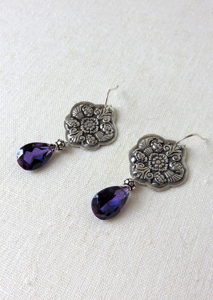 Cersei Earrings with Stunning Kunzite Quartz