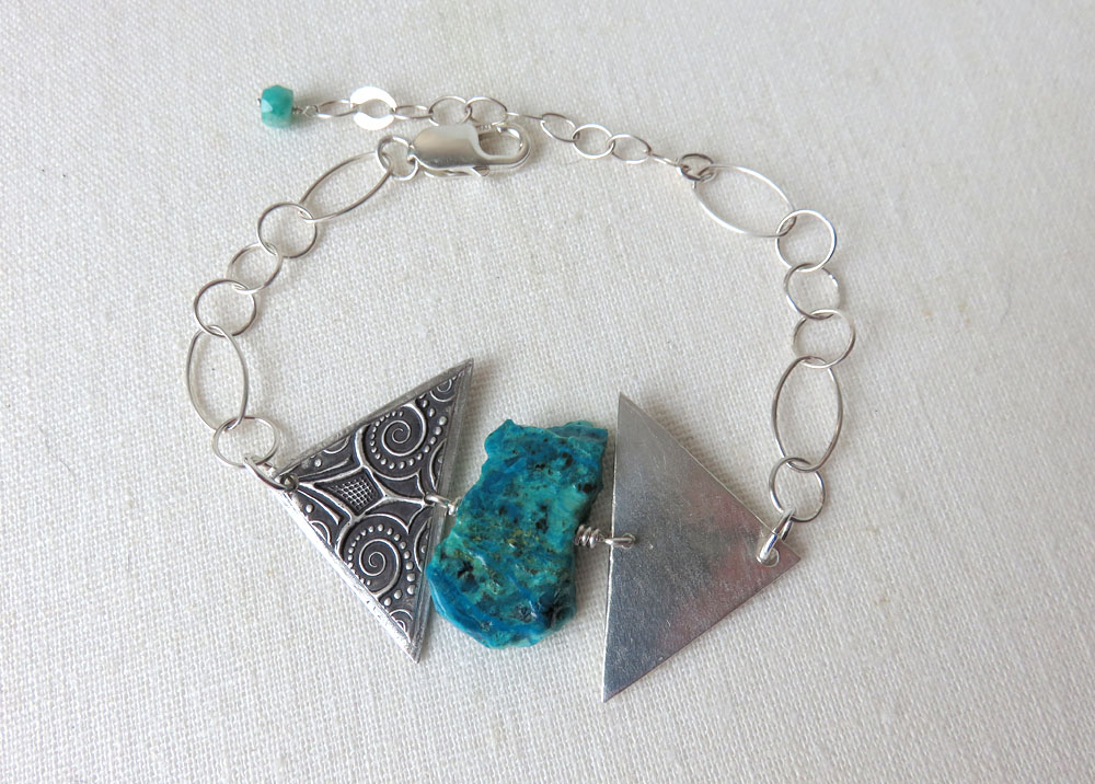 Maya Bracelet with Chrysocolla