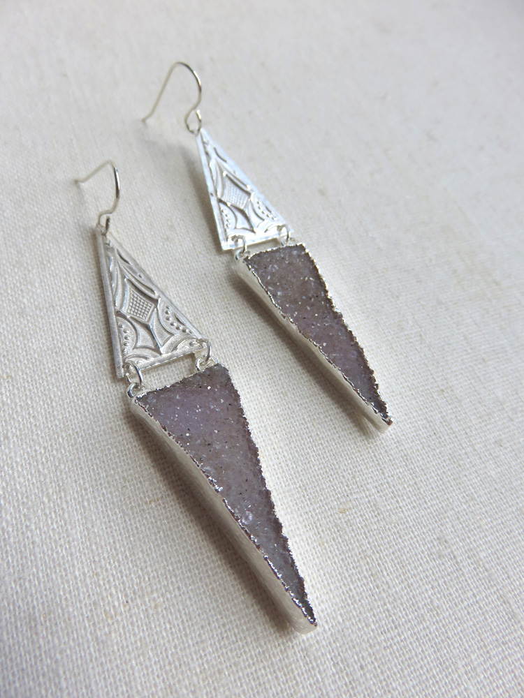 SOLD OUT - Aphrodite Earrings in Silver