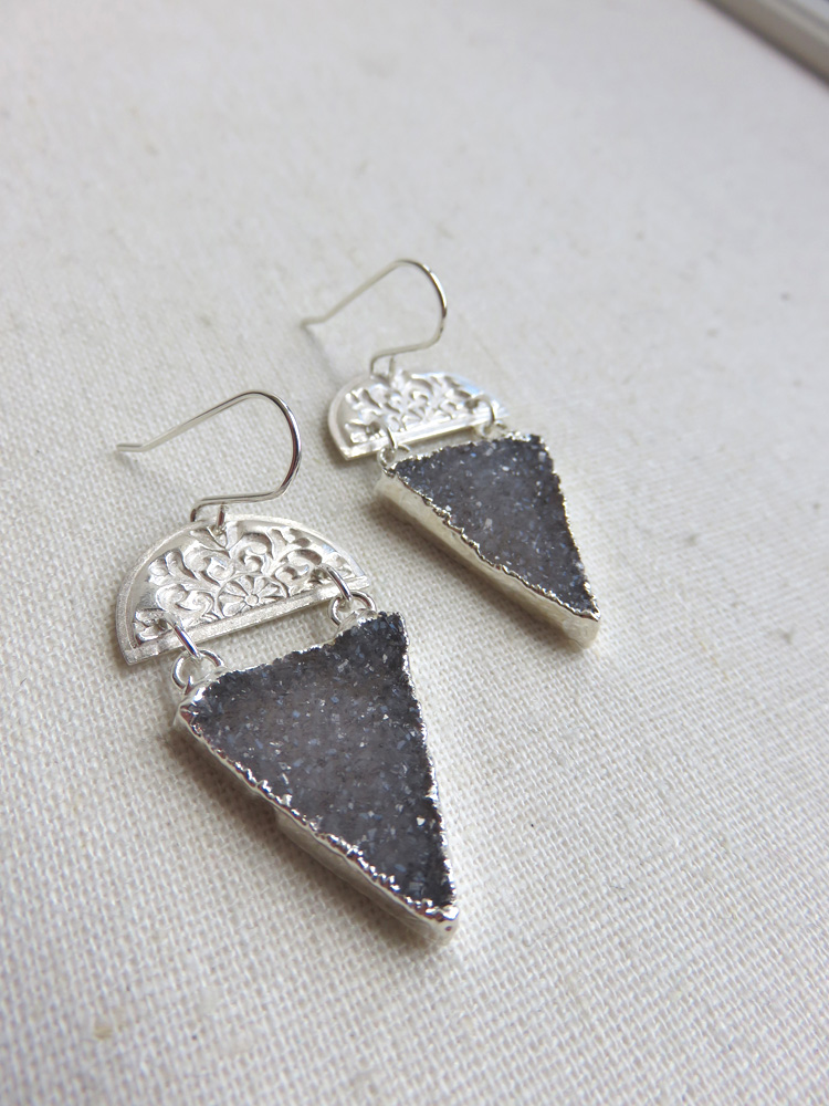 SOLD OUT - Astrea Floral Earrings in Silver