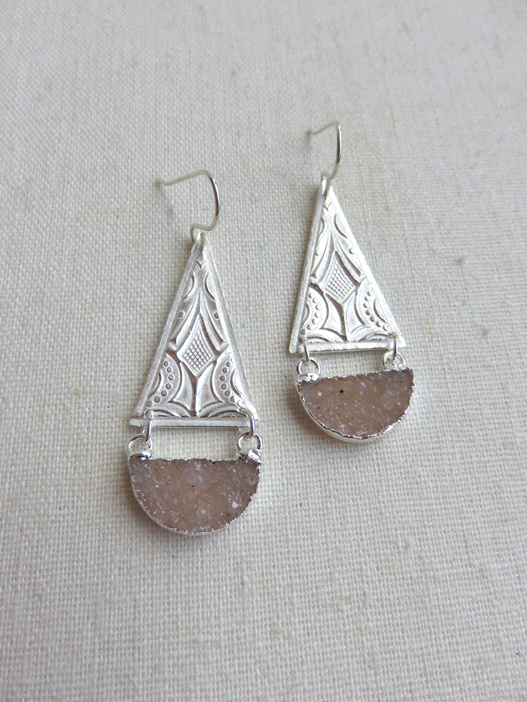 Athena Earrings in Silver