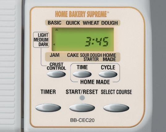 zojirushi control panel, home bakery supreme, zo bread maker, automatic bread machine