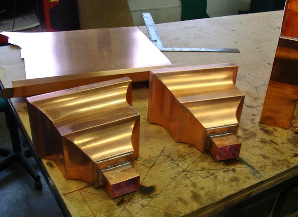 Copper Collector Boxes being laid out