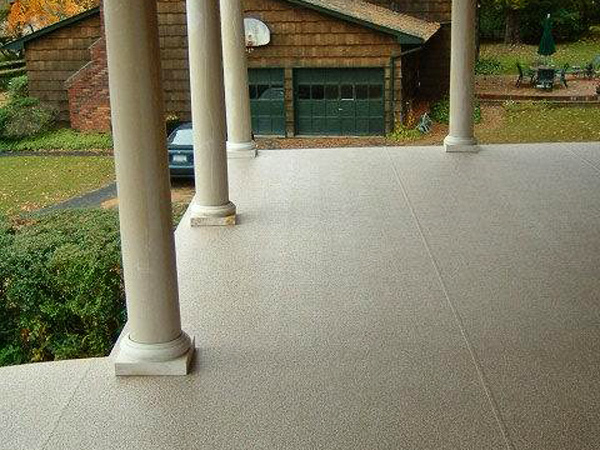 front porch deck using vinyl decking