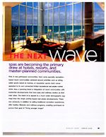 Article about spas becoming primary draw at hotels, resorts written by Mick Matheusick