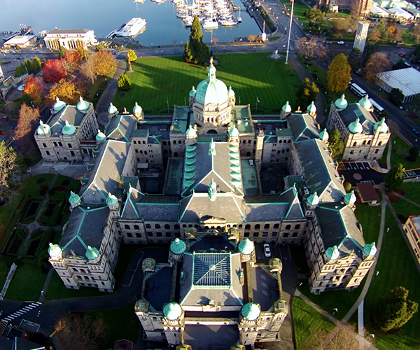 UAV roof inspection of the British Columbia Parliament Buildings
